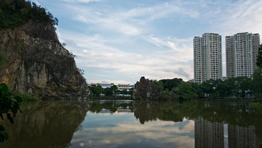 Der angrenzende See Little Guilin
