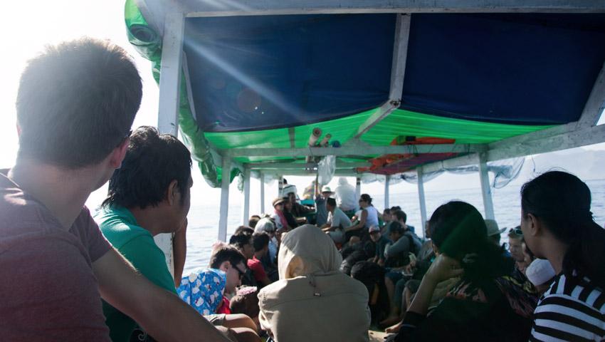 Bootsfahrt nach Lombok